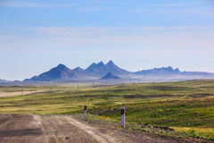 Landscape with mountains, Kazakhstan Stock Photo