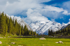 Landscape with mountains, Kyrgyzstan Stock Photography