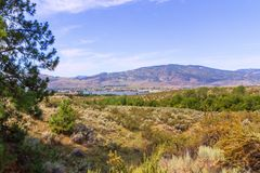 Landscape with mountains and lake Stock Photography