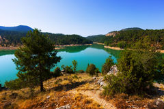 Landscape with mountains lake Royalty Free Stock Photo