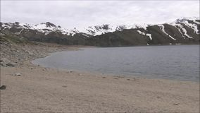 Landscape of mountains,lake and valley in Santiago Chile. Landscape of mountains, snow and valley in Santiago Chile stock footage