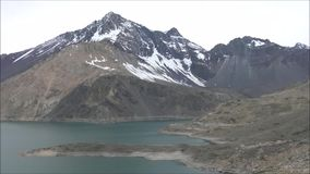 Landscape of mountains,lake and valley in Santiago Chile. Landscape of mountains, snow and valley in Santiago Chile stock video footage