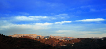 Landscape Mountains in Malaga. Spain Royalty Free Stock Photography