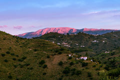 Landscape Mountains in Malaga. Spain Stock Images