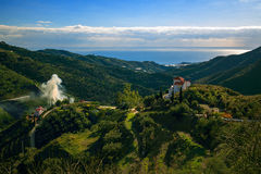 Landscape Mountains in Malaga. Spain Stock Image