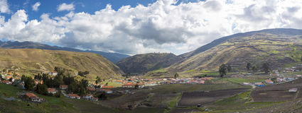 Landscape of the mountains in Merida near Los Nevados, Venezuela Stock Photography