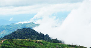 Landscape with mountains and mist Stock Photography