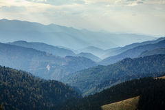 Landscape with mountains and mist Royalty Free Stock Images