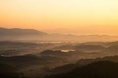 Landscape of mountain range Royalty Free Stock Photo