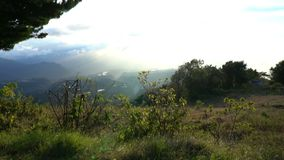Landscape of mountains and mist, located at panama, baru volcano. Video stock footage