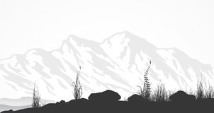 Landscape with mountains Royalty Free Stock Image