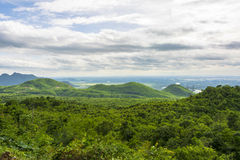 Landscape in the mountains of Myanmar at Pyin Oo Lwin Stock Photo