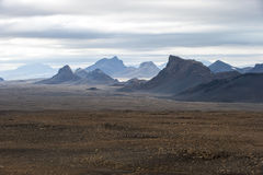 Landscape with mountains near Langjokull, Iceland Stock Image