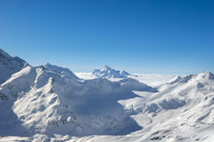 Landscape of the mountains on the North Caucasus Royalty Free Stock Image