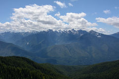 Landscape in the mountains, Olympic National Park, Washington. USA Royalty Free Stock Images