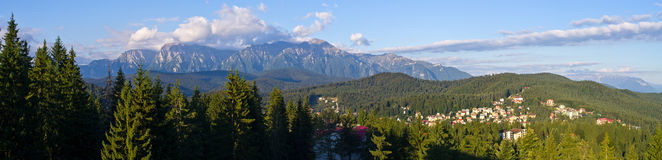 Landscape with mountains in Predeal, Romania Stock Image