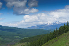 Landscape with mountains. Republic Altay. Landscape with mountains summer. Republic Altay, Russia Royalty Free Stock Photography