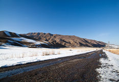 Landscape of mountains, roads Royalty Free Stock Photography