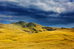 Landscape with mountains in Romania Royalty Free Stock Photography