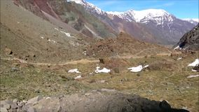 Landscape and mountains in Santiago, Chile. Amazing Landscape and mountains in Santiago, Chile stock footage