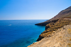 Landscape, mountains and sea at south side of Crete island Stock Photography