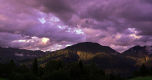 Landscape, Mountains, Sky, Clouds Stock Images