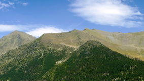 Landscape of mountains and sky with fast movement of clouds.Time Lapse. Landscape of mountains and sky with fast movement of clouds in Arinsal, Pyrenees of stock footage