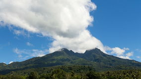 Landscape of mountains and sky.Timelaps. View from the mountains to the jungle.Tropical Mountain.Volcano on the island of Camiguin.Timelaps.Mountain landscape in stock footage
