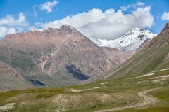 Landscape of mountains with snow peaks, Tien Shan Royalty Free Stock Photo