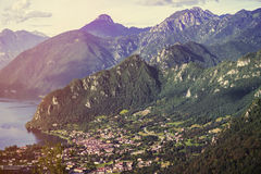 Landscape of Mountains of South Tyrol In Italy Royalty Free Stock Image