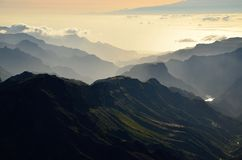 Landscape of mountains. Southwest of Gran canaria, Canary islands Stock Photo