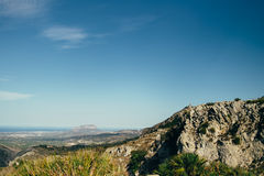 Landscape. Mountains in spain Royalty Free Stock Image