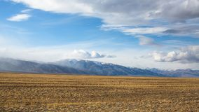 Landscape of the mountains and steppe in Western Mongolia. Nature. Royalty Free Stock Image