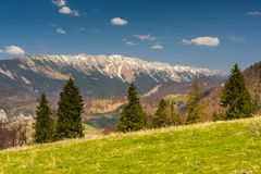 Landscape with mountains in the summer Royalty Free Stock Image