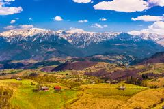 Landscape with mountains in the summer Royalty Free Stock Photos
