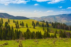 Landscape with mountains in the summer Royalty Free Stock Photo