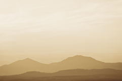 Landscape with mountains at sunset Stock Photography