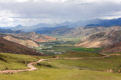 Landscape of mountains in Tibet Stock Images