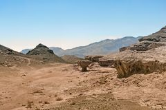 Timna Park of Israel royalty free stock image