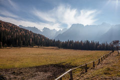 Landscape with mountains. Under cloudy sky Stock Photography