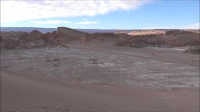 Landscape of mountains and valley Atacama desert Chile. Landscape of mountains, salt flats and valley in Atacama desert Chile stock video