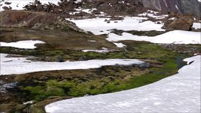 Landscape of mountains and valley in Santiago Chile. Landscape of mountains, snow and valley in Santiago Chile stock footage