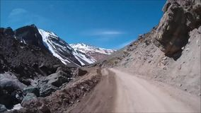 Landscape of mountains and valley in Santiago Chile. Landscape of mountains, snow and valley in Santiago Chile stock video footage