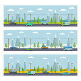 Landscape with mountains. Vector illustration Royalty Free Stock Images