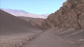 Landscape of mountains,volcano and valley Atacama desert Chile. Landscape of mountains and valley in Atacama desert Chile stock video footage