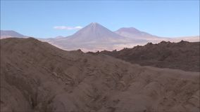 Landscape of mountains,volcano and valley Atacama desert Chile. Landscape of mountains and valley in Atacama desert Chile stock footage