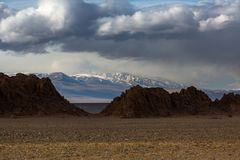 Landscape of the mountains in Western Mongolia. Nature. Stock Image