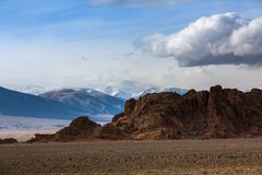 Landscape of the mountains in Western Mongolia. Travel. Landscape of the mountains in Western Mongolia Stock Photography