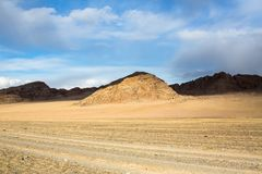 Landscape of the mountains in Western Mongolia. Travel. Royalty Free Stock Photos