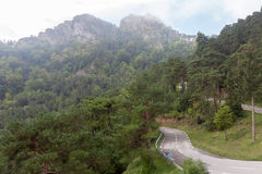 Landscape in  mountains  with  winding road. Royalty Free Stock Image